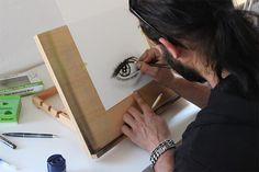 Drawing-With-a-Pencil Drawing Skills, Drawing Sketches, Drawing Eyes, Drawing Practice, Drawing Art, Sketching, Art Drawings, Pintura Online, Graffiti