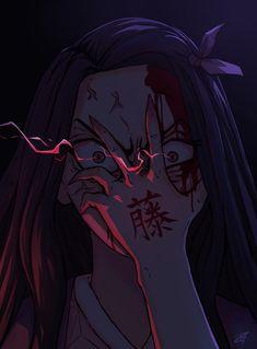 Oct 2019 - ArtStation - Nezuko fanart (Demon Slayer: Kimetsu no Yaiba), Martin F Yandere Anime, Animes Yandere, Sad Anime, Fanarts Anime, Kawaii Anime Girl, Anime Demon, Otaku Anime, Anime Guys, Dark Anime Girl