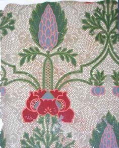 Edwardian printed Nairn linoleum with Art Nouveau design