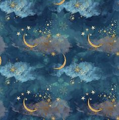 CLOUD FABRIC, UNICORN FABRIC, NIGHT SKY FABRIC, STAR FABRIC This fabric is a beautiful CUSTOM FABRIC. It comes in 8 different types of fabric that you can chose in the shop. They are all nice weight and can be used in many craft projects. All fabrics ARE NOT pre washed. If you order