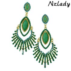 Nzlady Fashion Jewelry 2013 Vintage Dangle Earrings For Women Full Of Beads 2013 ER-015877