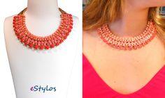Collar rosae Stylos, varios colores www.estylos.es