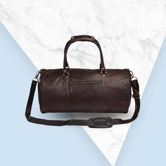 9658d1e5c3d909 Personalized Leather Duffle Bag/Weekend Bag - Overnight Bag - Gym Bag in  Vintage Mahogany Handmade by MAHI Leather