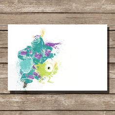 Disney poster Pixar poster Monsters Inc movie poster art print disney poster movie art fan art pixar movie poster This print was created using Monsters Inc Movie, Disney Monsters, Film Pixar, Pixar Movies, Pixar Poster, Movie Poster Art, Silhouettes Disney, Movie Prints, Art Prints