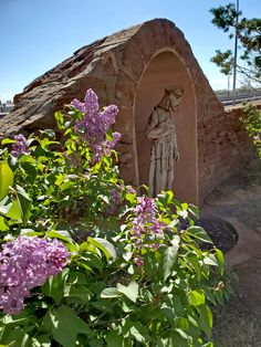This statue of Saint Francis sits near the railroad track on the south lawn of La Posada. Saint Francis, Garden Bridge, Railroad Tracks, Lawn, Restoration, Walking, Outdoor Structures, Statue, Explore