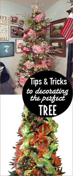 Tips and Tricks to create  a beautiful Christmas Tree.  Decorate your Christmas Tree like a professional.