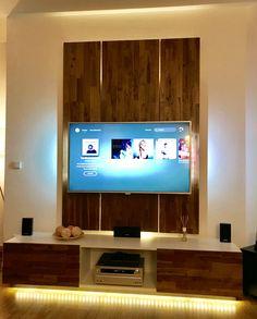 Wohnwand, Wandholz, TV-Wand aus Holz