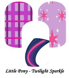 My custom Jamberry Wraps little pony twilight sparkle NAS Nail Wraps #jamberry #gabbysjams Contact me if you are interested in purchasing them: https://www.facebook.com/groups/gabbysjamsnasdesigns/ or gabbysjams@gmail.com or https://www.facebook.com/gabbysjams/  DIY, nail art, cute,