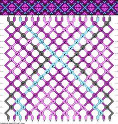 Muster # 80261, Streicher: 18 Zeilen: 16 Farben: 4