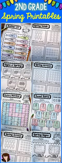 2nd Grade No Prep Spring Printables!
