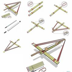 How to make Pencil Bows step by step DIY tutorial instructions, How to, how to do, diy instructions, crafts, do it yourself, diy website, art project ideas
