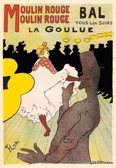 AP152 Vintage French Moulin Rouge Paris Advertisement Poster Card Print A5