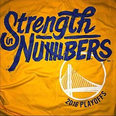 "Brand new, unused. Golden State Warriors ""Strength in Numbers 2016 PLAYOFFS"" Official BMW t-shirt.   bayareabmw dot com shirt. Authentic. I have sizes large and extra large.   Pet free, smoke free, clean home.   Brisette"