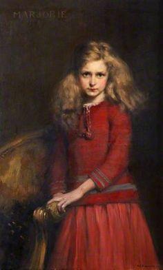 Marjorie c.1934 by Alfred Edward Borthwick (Scottish 1871-1955)