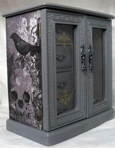 Joyero caja de la joyería gótica por nacarado