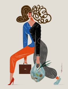 independence of a working mother. on Behance Woman Illustration, Illustration Artists, Illustrations, Cowboy Home Decor, Mothers Day Poster, Working Mother, Print Advertising, Show Horses, Character Design