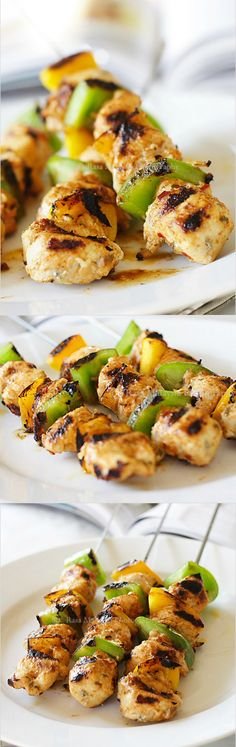 Juicy chicken kebab