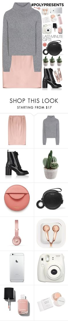 """""""#PolyPresents: Last-Minute Gifts"""" by evangeline-lily on Polyvore featuring Jil Sander, Acne Studios, Marc Jacobs, Mulberry, Carven, Beats by Dr. Dre, claire's, Fujifilm, Chanel and Herbivore"""