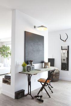 #desk with a #blackboard in #scandinavian style