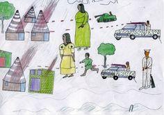 drawing by kids of darfur