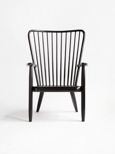 Syrette Lew; Lacquered Wood Windsor Chair for Moving Mountains, 2010s.