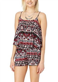 image of Maroon Paisley Cropped Swing Tank