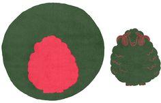 """""""Quai de la Mégisserie"""" Round rug 170cm - 2 pièces - Wool & alpaca http://www.untapisaparis.fr/shop/quai-de-la-megisserie-2/"""