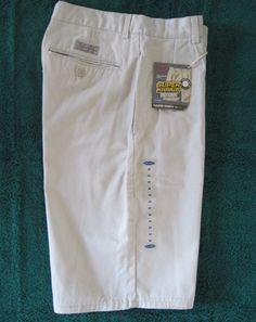 Old Navy Boys Super Khakis Pleated Shorts Cotton Size 14 Adj Waist New