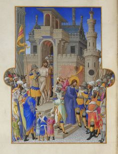 St. Martin with a Beggar - Limbourg brothers - WikiArt.org