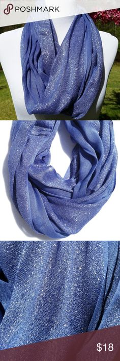 BEAUTIFUL LILAC PURPLE INFINITY SCARF WITH SPARKLE This is so pretty!  It's a lilac/lavender purple infinity / donut scarf with metallic thread running through it to give it a beautiful shimmer!!  So cute for spring and lightweight to keep you comfortable!!  BUNDLE ITEMS IN MY CLOSET AND SAVE!! Accessories Scarves & Wraps