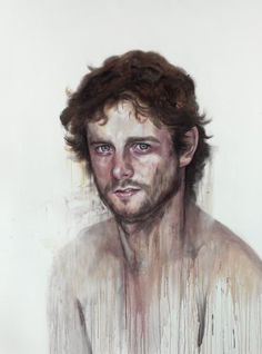 in relation to my watercolor portrait class pin. this is Ben Quilty by Cherry Hood, probably her most recognisable work ♥ Australian Painting, Australian Artists, Art Terms, Watercolor Portraits, Watercolour, National Portrait Gallery, Figure Painting, Art Images, Art Drawings