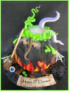A Witch's Cauldron Cake by Mel_SugarandSpiceCakes