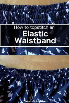 Great Free sewing hacks waistband Suggestions Ready to wear garments often come with top stitched elastic waistbands. Getting this look yourself Techniques Couture, Sewing Techniques, Sewing Hacks, Sewing Tutorials, Sewing Tips, Sewing Ideas, Bag Tutorials, Sewing Crafts, Fat Quarter Projects