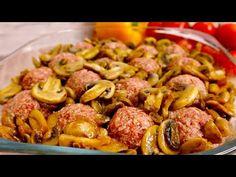 Masové kuličky s houbami a bramborami v troubě # 85 - YouTube Carne, Casserole, Salsa, The Creator, Roast, Stuffed Mushrooms, Brunch, Beef, Baking
