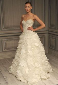 Pretty Princess Wedding Gowns - The Monique Lhuillier Spring 2012 Bridal Collection is Magical (GALLERY)