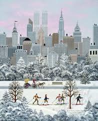 winter city scene by Linda Nelson Stocks