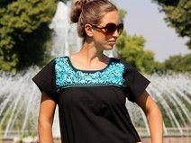 Bluse *GALANA* L * mexikanische Mode * Frida
