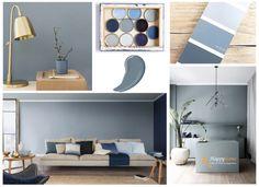 Kleur Denim Drift - Happy Home Denim Drift, Crates, Color Schemes, Sweet Home, Shelves, Warm, Mansions, Bedroom, Logos