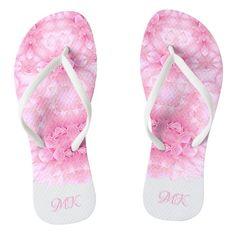#ad Flip Flops, Monogram, Slip On, Sandals, Abstract, Pattern, Pink, Shoes, Color
