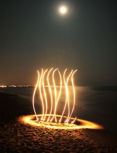 Bonfire on the Beach ||| Long Exposure Photography and Lightpainting