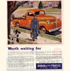 vintage dodge truck ad