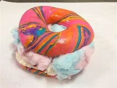 You're not hallucinating: The stunning rainbow bagel sandwich you need to try