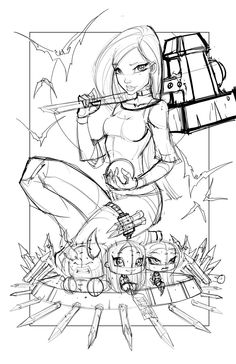 Commish 109 WIP 02 by RobDuenas.deviantart.com on @deviantART