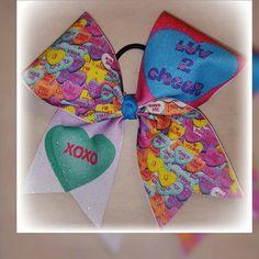Valentines day CHEER BOW cheerleader conversation by bowzingabows