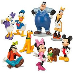 Disney Mickey Mouse Clubhouse Figure Deluxe Play Set   Disney StoreMickey Mouse Clubhouse Figure Deluxe Play Set - Your little one will have fun hanging out in Mickey Park with all their favorite Clubhouse characters. This detailed and colorful nine-piece set includes Mickey, Minnie, Donald, Pluto, Clarabelle and more.