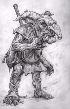 Fantasy Concept Art, Fantasy Artwork, Character Art, Character Design, Demon Drawings, Goblin King, Hobgoblin, Sword And Sorcery, Cg Art