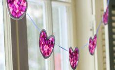 Project Nursery - Tissue Paper Heart Garland