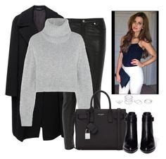 """""""leather pants : sophia smith style"""" by etana-e ❤ liked on Polyvore featuring Yohji Yamamoto, BLK DNM, Dion Lee, Yves Saint Laurent, Alexander Wang, StreetStyle, OneDirection, Stealherstyle, stylesteal and luxury"""
