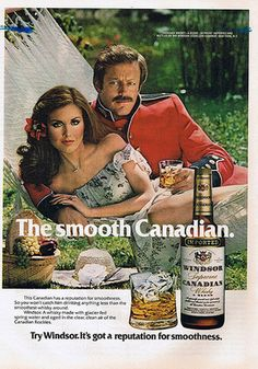 Who knew Ron Swanson's father was a Canadian booze model?