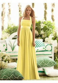 A-line Halter Chiffon Party Dresses #AUSA018762